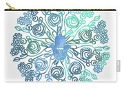 Hamsa Mandala 1- Art By Linda Woods Carry-all Pouch