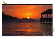 Hanalei Sunset Carry-all Pouch by Mike  Dawson