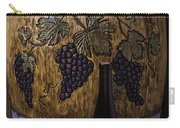Hand Carved Wine Barrel Carry-all Pouch