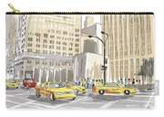 Hand Drawn Sketch Of A Busy New York City Street Carry-all Pouch