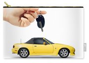 Hand Holding Key To Yellow Sports Car Carry-all Pouch