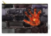 Hand On The Hole On The Wall Carry-all Pouch
