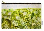 Hand Painted Picture, Meadow With White Dandelines Carry-all Pouch