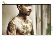 Handsome Man With Tattoos. #thailife Carry-all Pouch