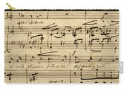 Handwritten Score For Hjertets Melodier, Opus 5 Carry-all Pouch