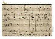 Handwritten Score Carry-all Pouch