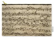 Handwritten Score For Mass In B Minor Carry-all Pouch