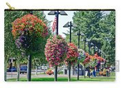 Hanging Flower Baskets In A Park Carry-all Pouch