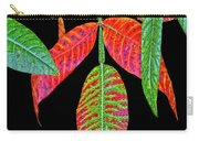 Hanging Green And Red Leafs... Carry-all Pouch