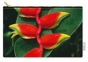 Hanging Heliconia Carry-all Pouch