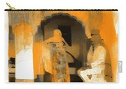 Hanging Out Travel Exotic Arches Orange Abstract Square India Rajasthan 1c Carry-all Pouch