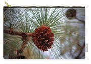 Hanging  Pine Cone Carry-all Pouch
