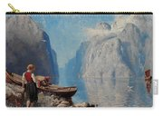Hans Dah,  B. 1849. D. 1937. Norwegian Girl By The Sea Carry-all Pouch