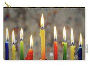 Hanukkah Menorah With Burning Candles Carry-all Pouch