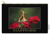Happiness Inspirational Poster Art Carry-all Pouch