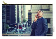 Happy African American Businessman Working In New York Carry-all Pouch