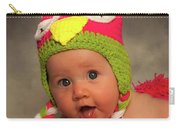 Happy Baby In A Woollen Hat Carry-all Pouch
