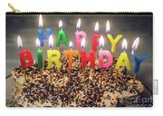 Happy Birthday Candles Carry-all Pouch