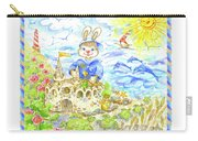 Happy Bunny Building Castle Carry-all Pouch