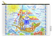 Happy Bunny On The Boat Carry-all Pouch