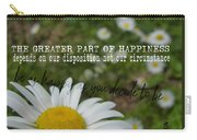 Happy Daisy Quote Carry-all Pouch