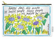 Happy Days W Blue Carry-all Pouch