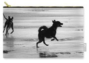 Happy Dog Black And White Carry-all Pouch