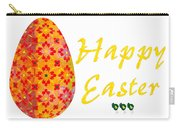Happy Easter Abstract Greeting Card Art By Omaste Witkowski  Carry-all Pouch