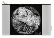 Happy Gator Black And White Carry-all Pouch