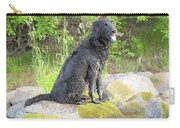 Happy Happy Dog At Dawn Carry-all Pouch