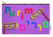 Happy Joyous Purim In Hebrew And English Carry-all Pouch