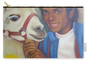 Happy Michael Jackson With His Pet Llama  Carry-all Pouch