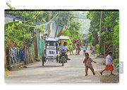 Happy Philippine Street Scene Carry-all Pouch by James BO  Insogna
