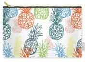 Happy Pineapple- Art By Linda Woods Carry-all Pouch by Linda Woods