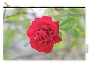 Happy Red Flower Carry-all Pouch by Raphael Lopez