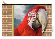 Happy Red Parrot Carry-all Pouch
