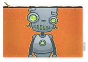 Happy Robot Carry-all Pouch by John Schwegel
