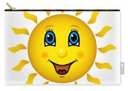 Happy Smiling Sun Carry-all Pouch