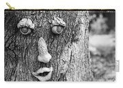 Happy Tree In Black And White Carry-all Pouch