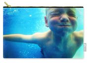 Happy Under Water Pool Boy Square Carry-all Pouch