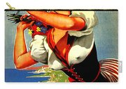 Happy Woman With Flowers, Festival In Ventimiglia, Italy Carry-all Pouch