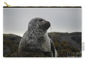 Harbor Seal In Stormy Weather Carry-all Pouch