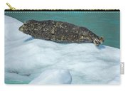 Harbor Seal  Sunbathing On A Bergy Bit Carry-all Pouch
