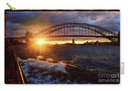 Harbour Bridge Sunset By Kaye Menner Carry-all Pouch