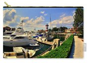 Harbour Town Marina Sea Pines Resort Hilton Head Sc Carry-all Pouch by Lisa Wooten