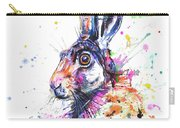 Hare In Grass Carry-all Pouch