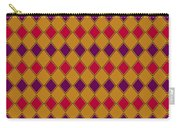 Harlequin Gold Purple Coral Carry-all Pouch