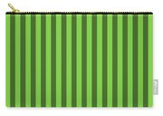 Harlequin Green Striped Pattern Design Carry-all Pouch