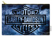 Harley Davidson Logo Blue Carry-all Pouch