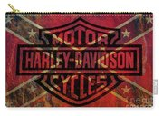 Harley Davidson Logo Confederate Flag Carry-all Pouch
